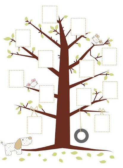 خريطة فارغة مربعات شجرة