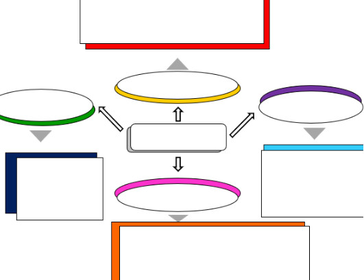 خريطة بألوان من الجنب فقط