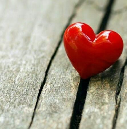 قلب أحمر