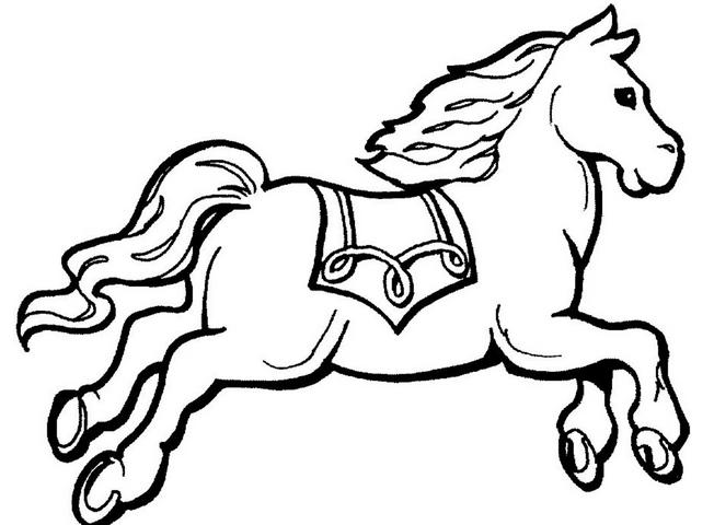 رسمة حصان للتلوين