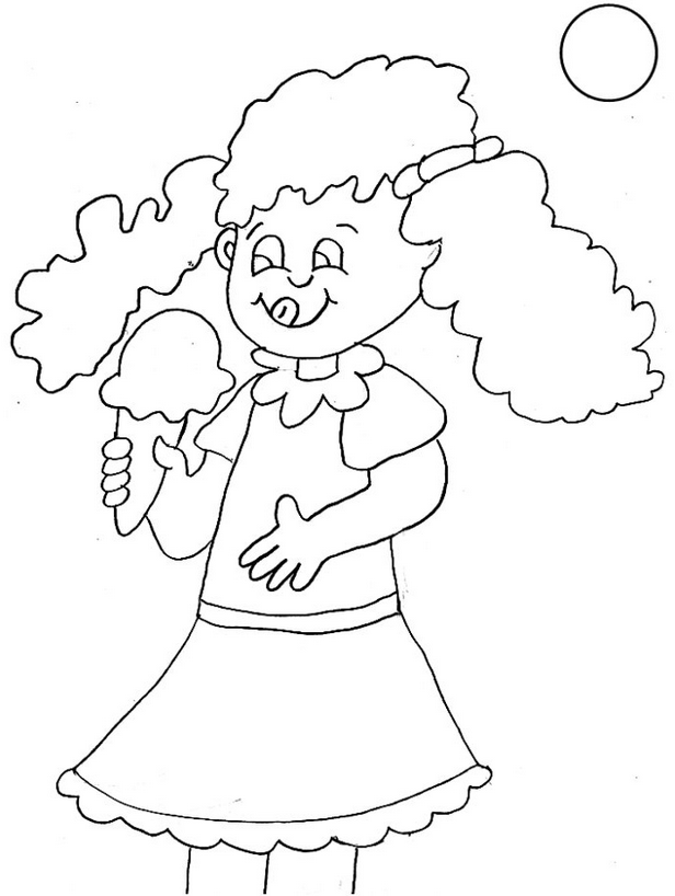 بنت تأكل ايس كريم