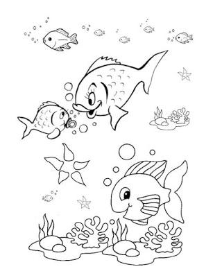 سمك للتلوين