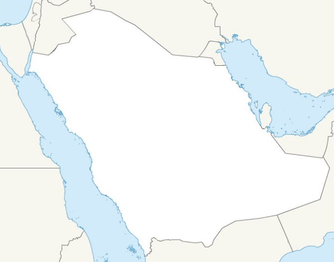 الخريطة الصماء للسعودية